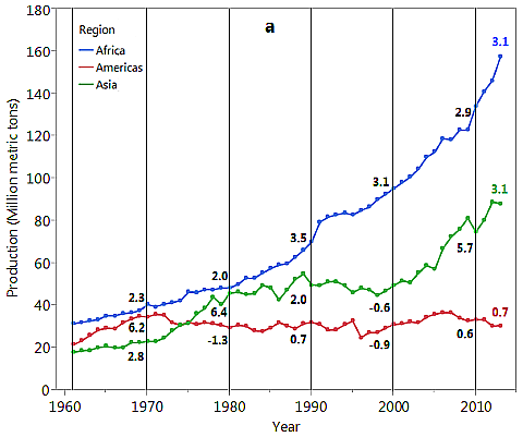 global cassava production trends