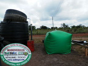 biogas plant in Ghana, West Africa